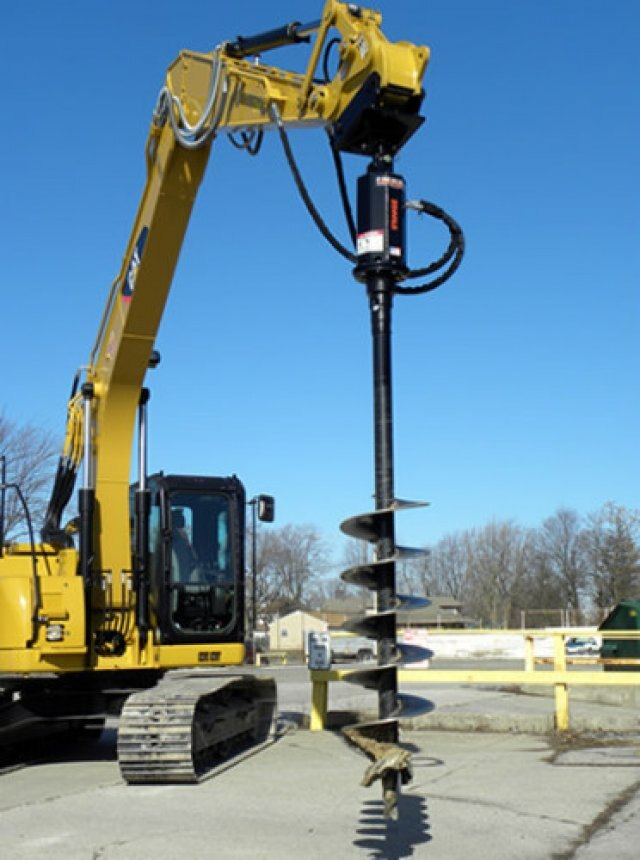 Excavator augers shaw brothers equipment sales barrie on for Demolition wood for sale